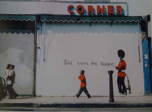 Banksy wall grafitti