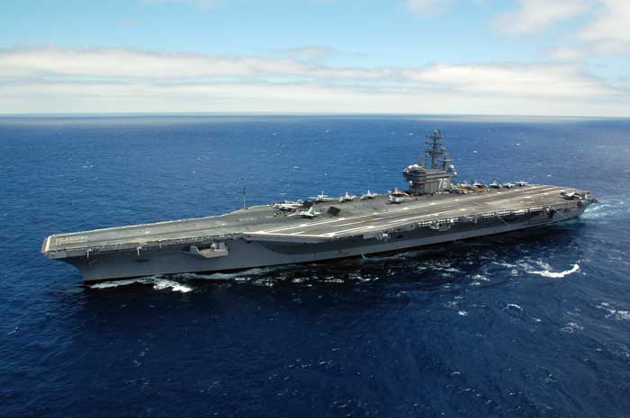 USS Ronald Reagan, photo from above, public domain