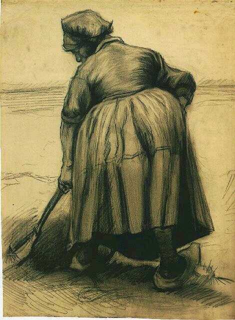 Peasant Woman Digging, 1885, Van Gogh