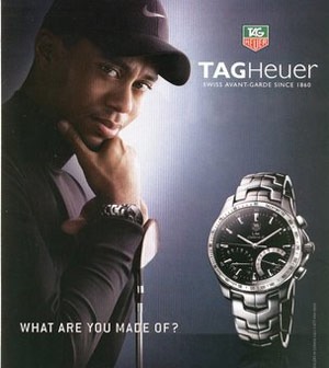 tiger woods in an advertisement