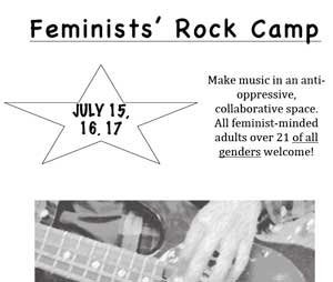 cover image poster feminists rock camp