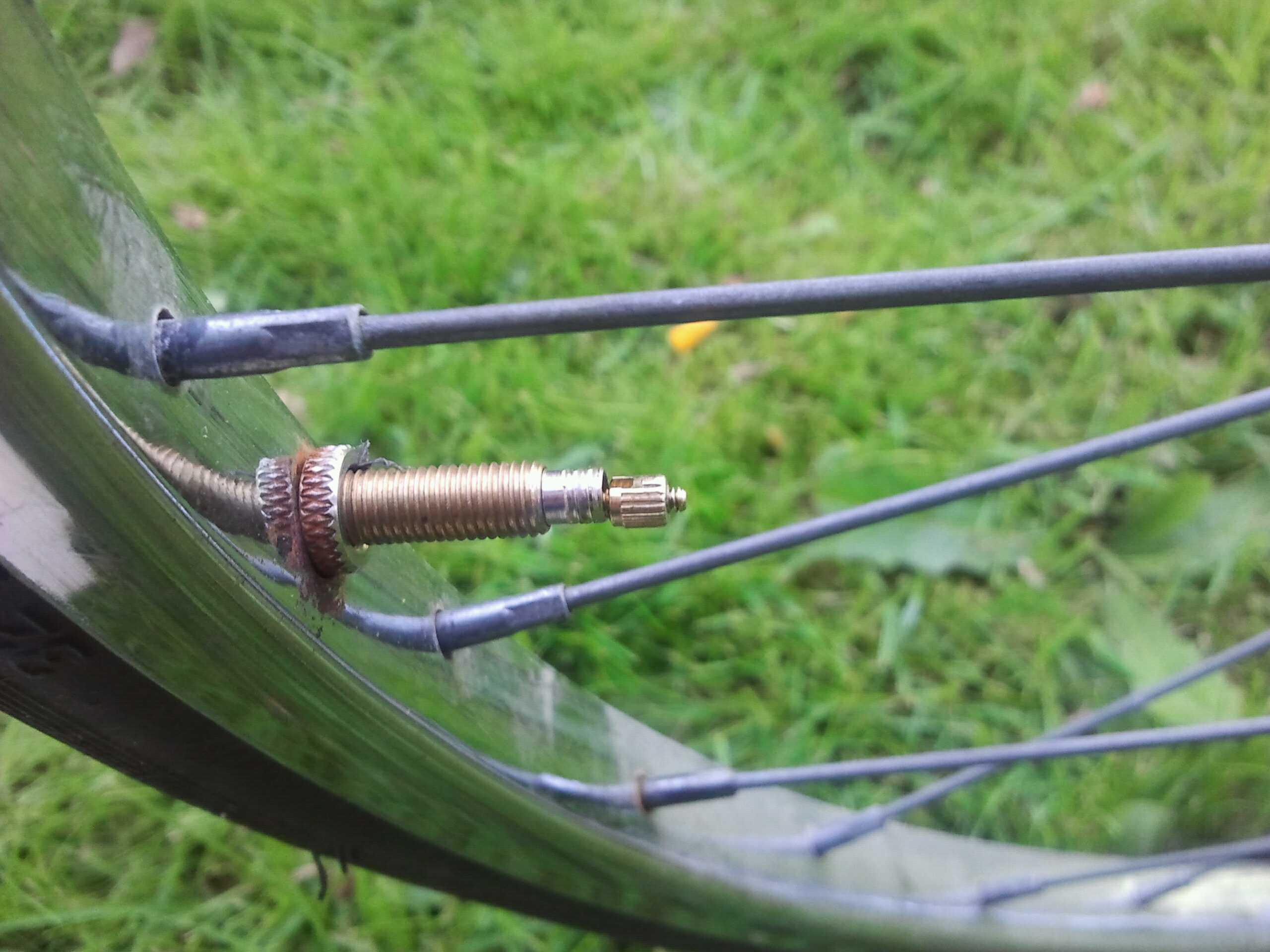Valve of a bike tire