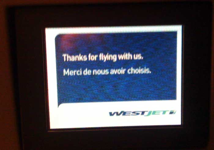WestJet tries to brainwash me