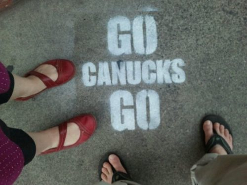 go canucks go graffiti in Victoria