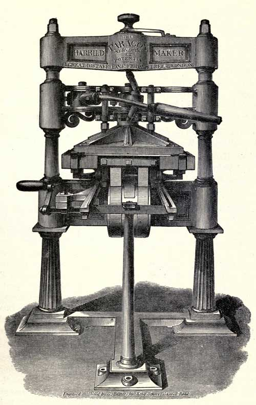 Georgy Baxter wood cut of a press