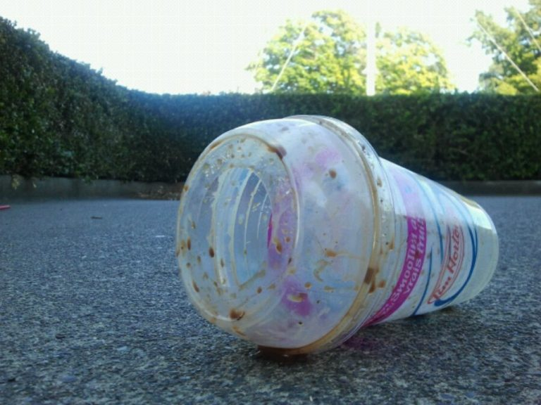 Victoria is a city of Tim Horton's trash.