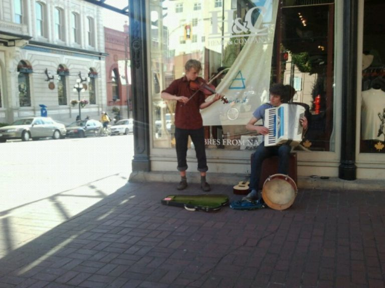 Victoria is a city of buskers.