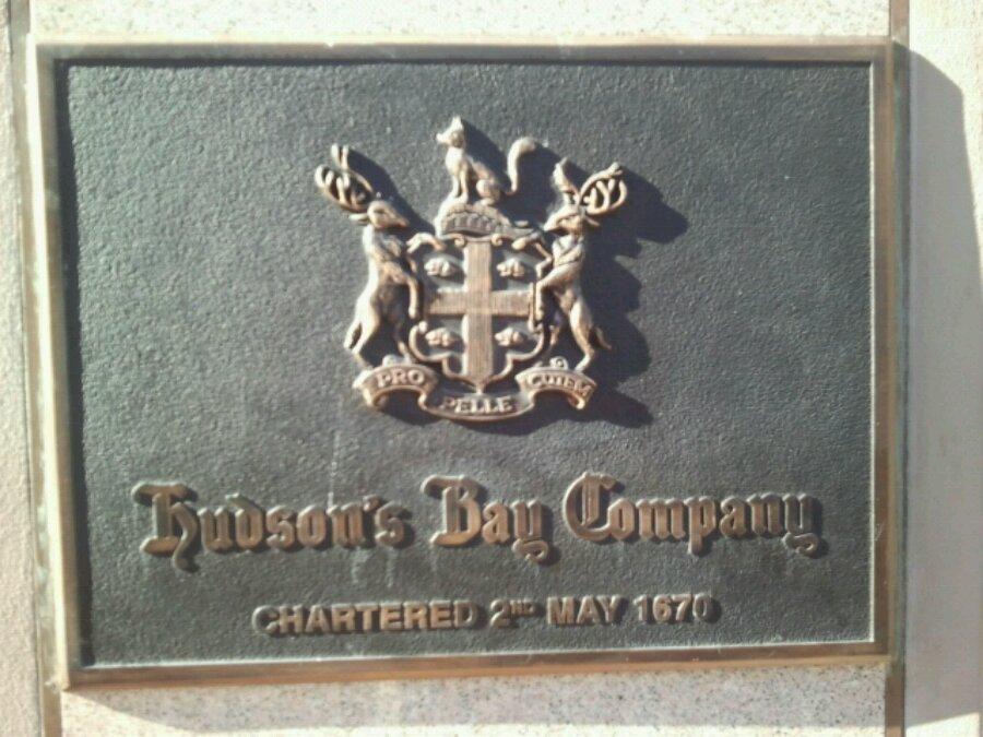 Hudson Bay Company shield on Government street