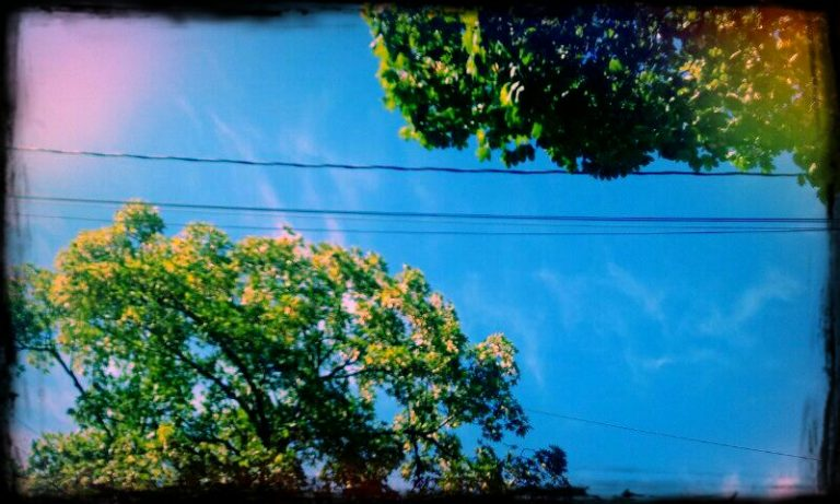 Summer sky in Vic West