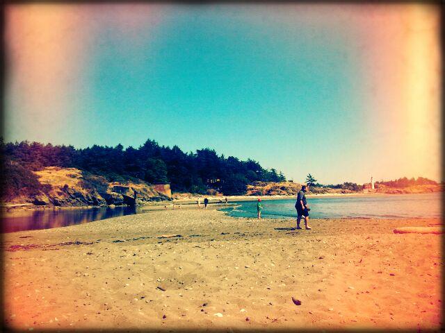 sand and sun on the lagoon