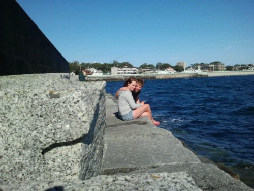 Breakwater with Ben and Kelly in midground