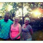 Summer dinner photo during an after dinner walk with Kim and Janet