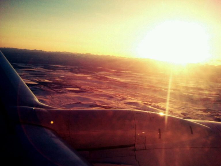 Winter sunset in Calgary
