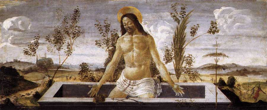 Jesus Christ rises from the grave: painting by Botticelli