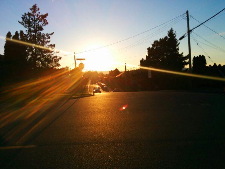 Sunset in Esquimalt.