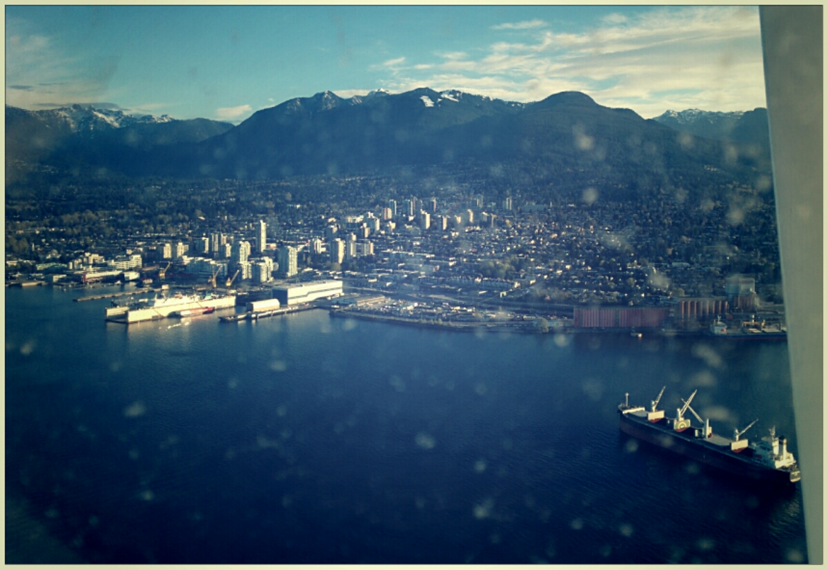 Flying into Vancouver harbour