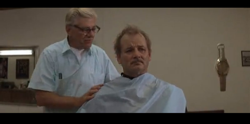 Herman Blume gets a haircut from Max's father