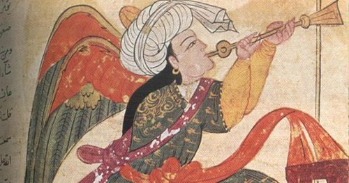 Angel in Islamic painting