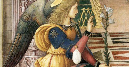 The Angel Gabriel as depicted by Bernardino de Betto.