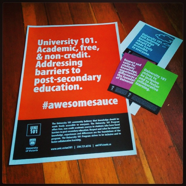 Uni 101 posters and marketing collateral.