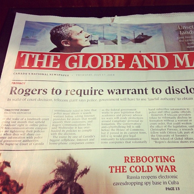 Wow. Favourable headline for Rogers