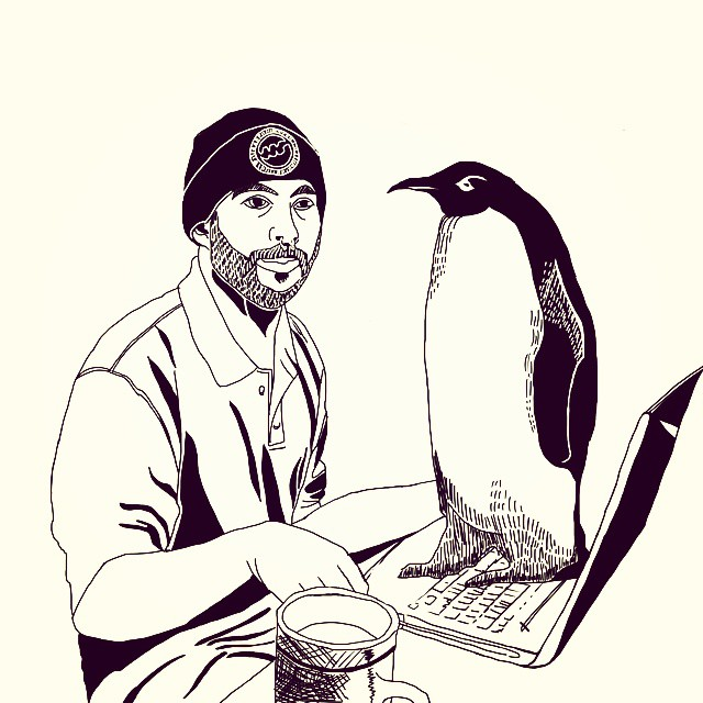 Get off my keyboard, penguin.
