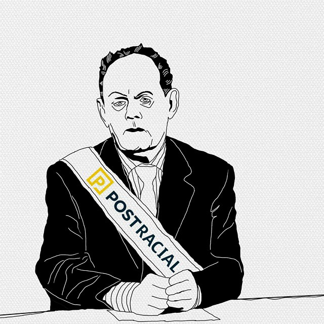 Illustration of Rex Murphy, of Postmedia.