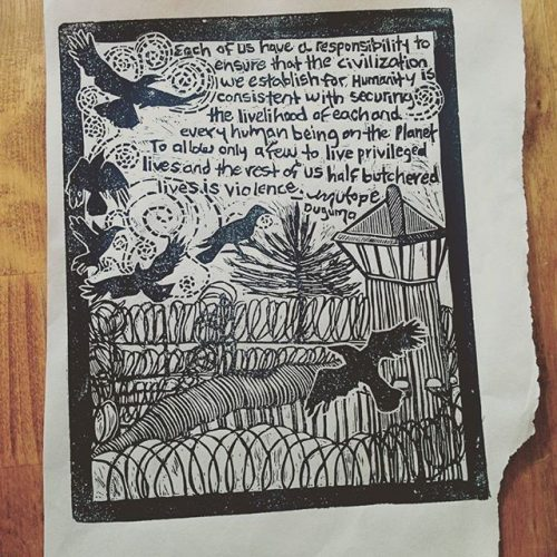 This print was made by a friend, and change maker, Annie Banks