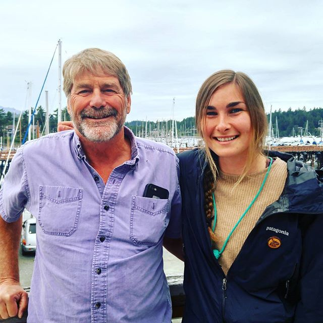 Had a good meeting today with @raincoastconservation, including these two salty sailors @aprilbencze and Brian Falconer, on WŚANÉC landŚANÉC