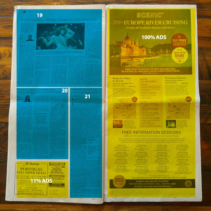 Globe and Mail BC Edition page 20 and 21